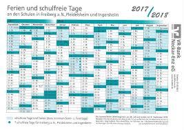 Ferienkalender 2018 Bw Oscar Paret Schule Freiberg A N Ferienplan