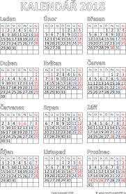 Kalendář 2018 Svátky Kalendář 2018 K Vytisknutí Pdf Soubory Pdf Zdarma Pro Tisk