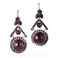 garnet earrings antique bohemian garnet earrings