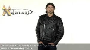 classic motorcycle jacket xelement b7100 classic men u0027s top grade biker motorcycle jacket at