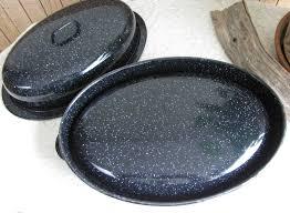 savory roaster vintage savory jr roaster cookware and ovenware black speckled