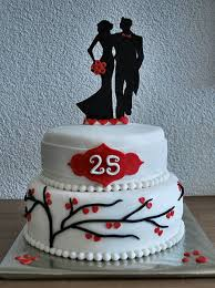 25th wedding anniversary cake just a small surprise cake for my