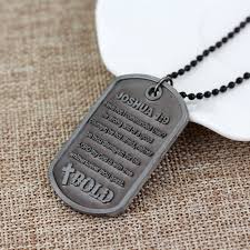 bible necklace statement jewelry god necklace joshua 1 9 be strong and courageous