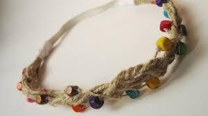 hippie hair bands how to create a hippie hemp cord beaded hair band diy style