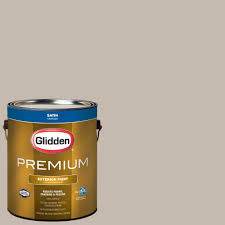 glidden premium 1 gal hdgwn37u dovetail grey satin latex