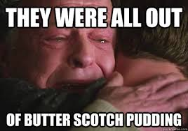 Pudding Meme - butterscotch pudding a love story nerds with knives
