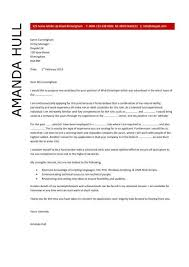 Web Developer Resume Examples by Attractive Ideas Web Developer Cover Letter 8 Leading Professional