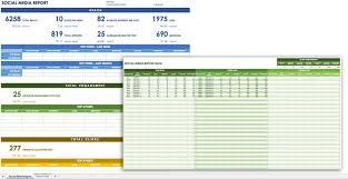 social media monthly report template yoga spreadsheet