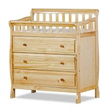Dream On Me Ashton 4 In 1 Convertible Crib White by Dream On Me Marcus Changing Table And Dresser In Natural Free Shipping