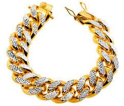 sterling silver bracelet with diamonds images Yellow silver miami cuban diamond cut link mens bracelet 20mm 9 quot jpg