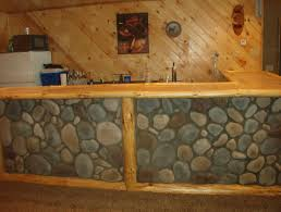 Rustic Bars Rustic Bars Front View Of A Rustic Log Framed Stone Faced Bar