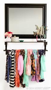 Wardrobe Organiser Ideas by Best 20 Organize Scarves Ideas On Pinterest Scarf Organization