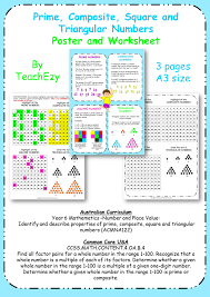 free resource prime composite square and triangular numbers