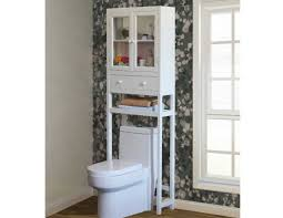 Bathroom Space Saver by White Bathroom Space Saver Over Toilet Cabinet Home Interior