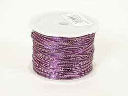 purple satin ribbon satin ribbon with gold edge 1 8 inch purple width 1 8 inch