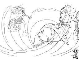 barbie mermaid tale coloring pages merliah surfing 429547