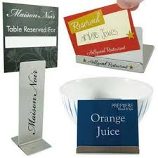 metal reserved table signs hotel table signs restaurant table signs table sign holders
