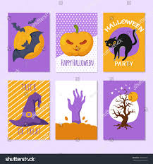 Tombstone Invitation Cards Halloween Party Posters Invitation Cards Cartoon Stock Vector