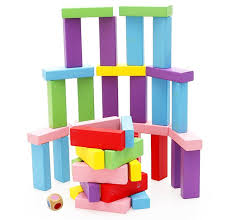 amazon com lewo wooden stacking board games building blocks for