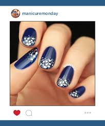mani of the week starry winter nails manicuremonday the best