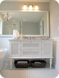 Dark Gray Bathroom Vanity by White And Grey Bathroom Renovation Makeover Carrera Marble Hex