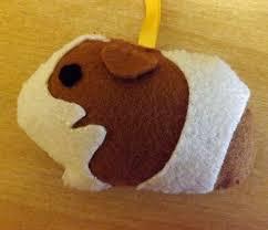 felt guinea pig ornament a guinea pig plushie sewing on cut out