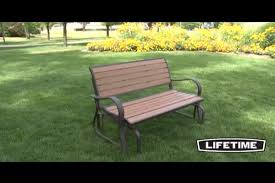 lifetime faux wood glider bench video gallery