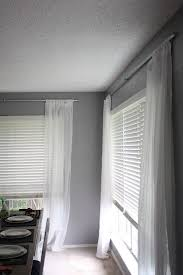 Hanging Curtains High And Wide Designs Bright U0026 Breezy Curtains Love U0026 Renovations