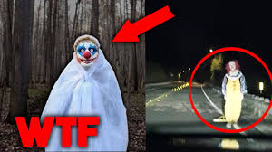 halloween in usa 5 scariest clown sightings caught on camera creepy clowns in usa