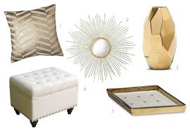 White And Gold Home Decor Update Your Apartment With Glam White U0026 Gold Accessories Midtown