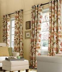 Floral Lined Curtains Jacobean Floral Lined Rod Pocket Curtains 100 W X 84 L Or 96 L