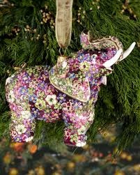 strongwater mille fiori elephant ornament