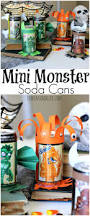 Monster Halloween Party Halloween Mini Monster Soda Cans