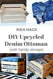 nifty denim diy ottoman crate with storage an ikea hack pillar