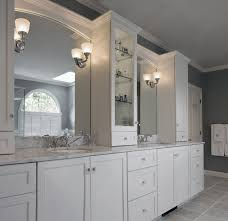 Bathroom Wall Cabinets White Bathroom Wall Cabinets With Bright Color Accent Designoursign