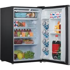 galanz 3 5 cu ft compact single door refrigerator black walmart com