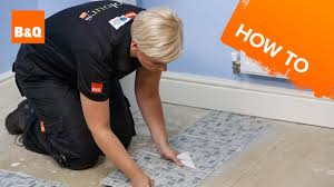 B And Q Flooring Laminate How To Lay Vinyl Tiles U0026 Carpet Tiles Part 2 Laying The Tiles