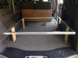 bed 2 0 with sliding drawer from a chevy express to a diy
