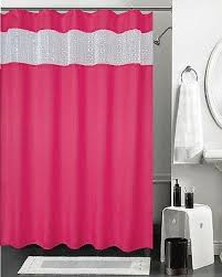 pink shower curtain curtains wall decor