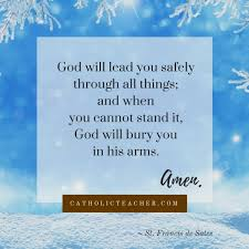 prayer from st francis de sales god will lead you safely