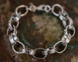 silver bracelet with stones images Vintage bracelets etsy jpg