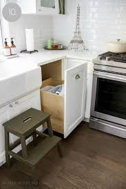Kitchen Cabinet Garbage Drawer Kitchen Cupboard And Drawer Organization So Much Better With Age