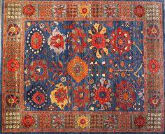Modern Rugs San Francisco Vines Afghan Rug In Dyes Modern Rugs Pinterest