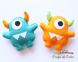 monster plush felt toy nursery decoration party favors