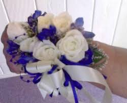 royal blue corsage royal blue corsage in universal city tx bloomingtons flower shop