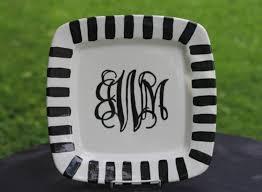 monogrammed platter painted monogram platter wedding platter monogram plate