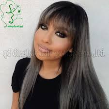 black grey hair balayage ombre grey hair gray ombre hair color trend for dark hair