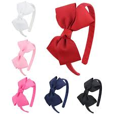 headbands with bows hipgirl girl women grosgrain ribbon wrapped