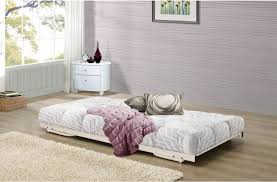 birlea milano 3ft single cream metal day bed frame with trundle by