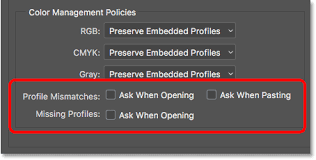 photoshop essential color settings